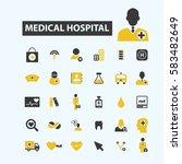 medical hospital icons    Shutterstock .eps vector #583482649