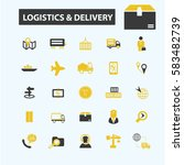 logistics  delivery icons  | Shutterstock .eps vector #583482739