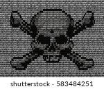 skull and crossed bones danger... | Shutterstock . vector #583484251
