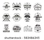 vintage mountaineering badges.... | Shutterstock .eps vector #583486345