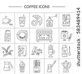 outline web icon set . elements ... | Shutterstock .eps vector #583489414