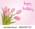 happy birthday greeting card... | Shutterstock .eps vector #583499719