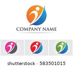 logo template   successful... | Shutterstock .eps vector #583501015