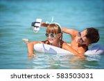 cute children taking selfie.   Shutterstock . vector #583503031