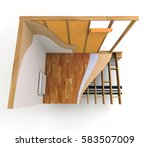 3d rendering. architecture... | Shutterstock . vector #583507009