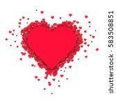 valentines composition of the... | Shutterstock .eps vector #583508851
