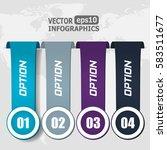modern paper infographics for... | Shutterstock .eps vector #583511677