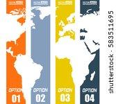 modern paper infographics for... | Shutterstock .eps vector #583511695