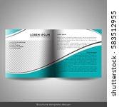bi fold square business or... | Shutterstock .eps vector #583512955