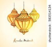 creative traditional lamps for... | Shutterstock .eps vector #583514134