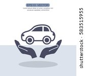 pictograph of car | Shutterstock .eps vector #583515955