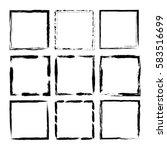 grunge frame set. isolated on... | Shutterstock .eps vector #583516699