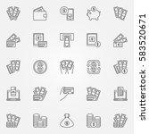 Money Icons Set   Vector...