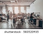 office life. group of young... | Shutterstock . vector #583520935