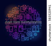 online payments bright... | Shutterstock .eps vector #583520941