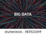 big data visualization. fractal ... | Shutterstock .eps vector #583521049