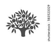 apple tree logo. tree... | Shutterstock .eps vector #583523329