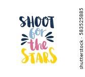 shoot for the stars. bright... | Shutterstock .eps vector #583525885
