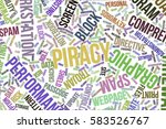 piracy  it  information... | Shutterstock . vector #583526767