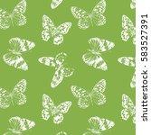 pattern butterfly   butterflies ... | Shutterstock . vector #583527391