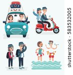 vector cartoon cute... | Shutterstock .eps vector #583532005