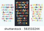 vector set of three cartoon... | Shutterstock .eps vector #583533244