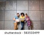 multi ethnic coworkers dressed... | Shutterstock . vector #583533499