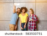 multi ethnic coworkers dressed... | Shutterstock . vector #583533751