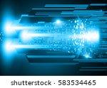 future technology  blue cyber... | Shutterstock .eps vector #583534465