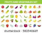 fresh fruit and vegetable icon... | Shutterstock .eps vector #583540669