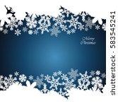 christmas border  snowflake... | Shutterstock .eps vector #583545241