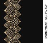 golden frame in oriental style. ...   Shutterstock .eps vector #583547569
