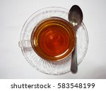 Hot Tea Cup With Spoon On...