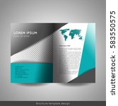 bi fold business brochure... | Shutterstock .eps vector #583550575