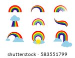 Rainbow Set Isolated On White...