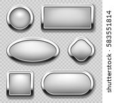 round chrome button collection... | Shutterstock .eps vector #583551814