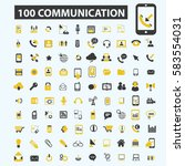 communication icons | Shutterstock .eps vector #583554031