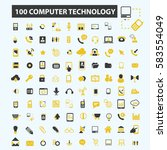 computer technology icons  | Shutterstock .eps vector #583554049