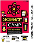 science camp  flat style vector ...   Shutterstock .eps vector #583555081