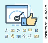 seo and development icons set | Shutterstock .eps vector #583566325