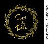 wedding invitation card... | Shutterstock .eps vector #583567021
