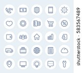 icons for web design in linear...