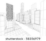 3d city map | Shutterstock . vector #58356979
