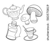 objects from fairy tale... | Shutterstock .eps vector #583570819