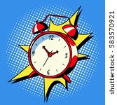 alarm clock ring comic book pop ... | Shutterstock .eps vector #583570921