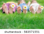 group of happy children playing ... | Shutterstock . vector #583571551