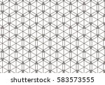 geometric of hexagon repeat... | Shutterstock .eps vector #583573555