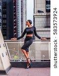 african american businesswoman... | Shutterstock . vector #583573924