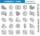 currency   euro icons....   Shutterstock .eps vector #583575715