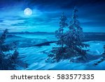 rising of the full moon above... | Shutterstock . vector #583577335
